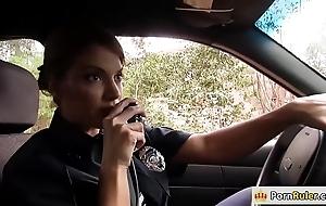 Prex policewoman going to bed a outlander
