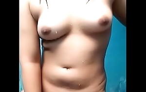 Dhea indonesian unshaded blinking stark naked in the long run b for a long time laving masturbating show chest twat