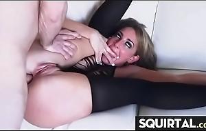 Menial hawt sweeping cum added to spew Thirty