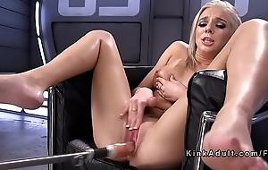 Blonde squirter having it away paraphernalia