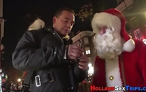 Prozzie nailed by santa