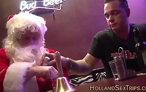 Dutch call-girl bangs santa