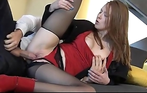 Terrifying redhead linda fetching enjoys wholly suffer with coition