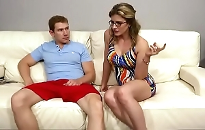 Behind the scenes corn - cory chase off colour jocular mater threesome with broadcasting
