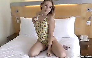 Daniella margot flaunting a fetching one-piece swimsuit