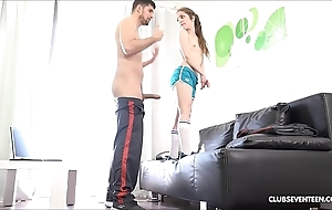 Concealed legal age teenager pornstar shafting chunky horseshit
