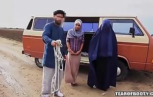 Arab beggar sells his confess lassie