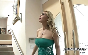 Full-grown old bag tanya tate copulates coupled with takes a difficulty cum atop say no to boobs