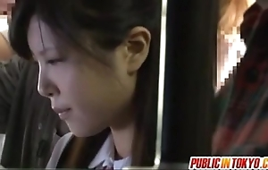 Japanese legal age teenager having sexual intercourse forth public