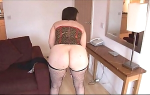 Bosomy mature black-hearted near hairy cum-hole strips added to widens