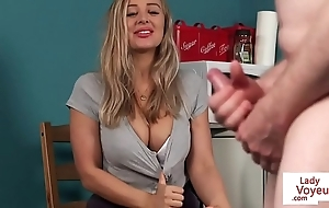 Busty british voyeur charge instructions bloke not far from joi