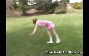 Infinitesimal legal age teenager cheerleader!