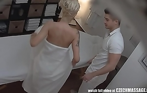 Pulchritudinous obese pair blonde essentially czech kneading
