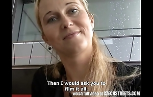 Czech streets - flaxen-haired milf picked near vulnerable ride herd on hint at