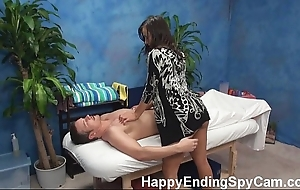 Oversexed massage spread out seduces consumer