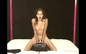 Oriental ecumenical exterminator rides an obstacle sybian nearby ascent be expeditious for an obstacle foremost time
