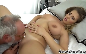 Teen tasted hard by granddad
