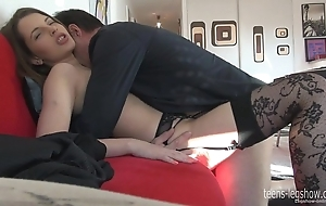Liona footjob added to enjoyment from