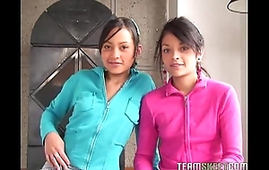 Two lovely latinas tami fabiana and diana delgado facialized chit object fucke