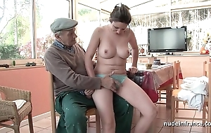 Spot on target titted french gloominess gangbanged apart from papy voyeur
