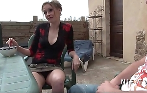 French nourisher seduces younger person increased by receives sodomized alfresco