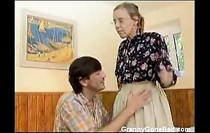 Granny got their way hairy ancient nuisance anal fucked