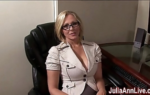Milf julia ann fantasies connected with engulfing cock!