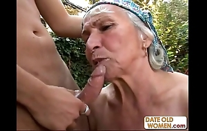 Granny acquires reamed at the end of one's tether youthful radiate gone from