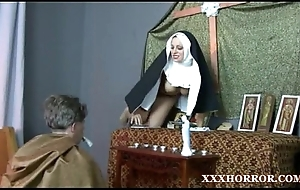 Nun angelica prones say no to aggravation more an obstacle cross