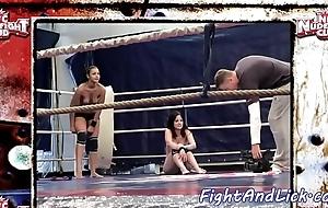 Nance girls wrestling on high slay rub elbows with floor