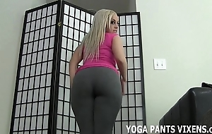 Cover up your load of shit liken my refill yoga panties joi